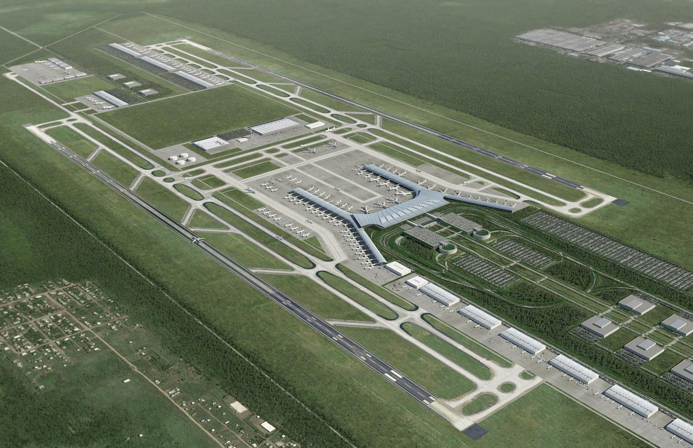 Work   Aerial Illustration - Airport Master Plan   Leif Peterson ...