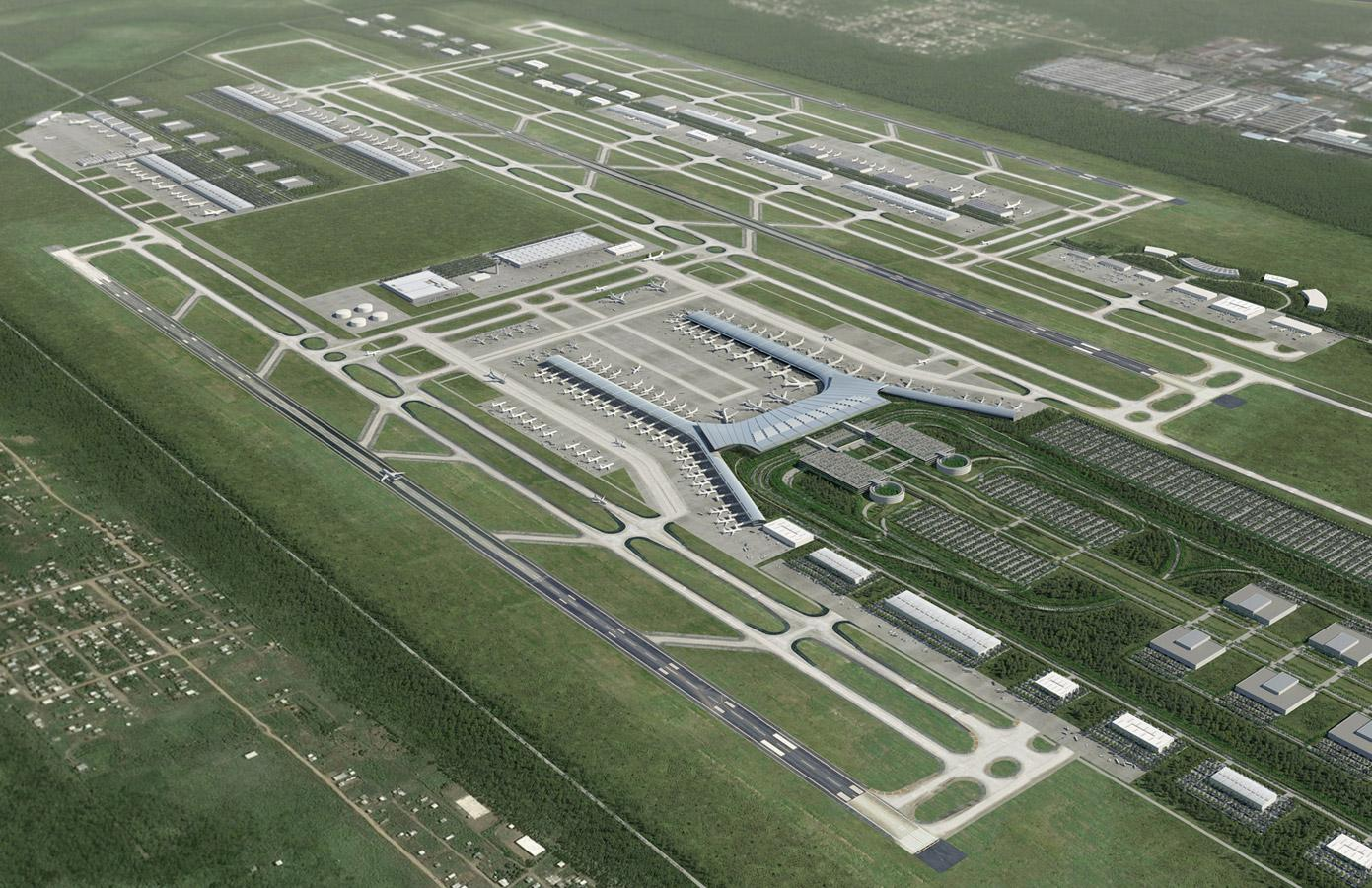 Work | Aerial Illustration - Airport Master Plan | Leif Peterson Design | Minneapolis Landscape ...