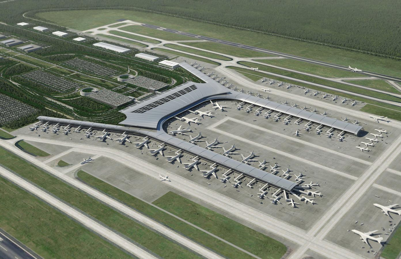 Work : Aerial Illustration - Airport Master Plan : Leif Peterson Design : Minneapolis Landscape ...